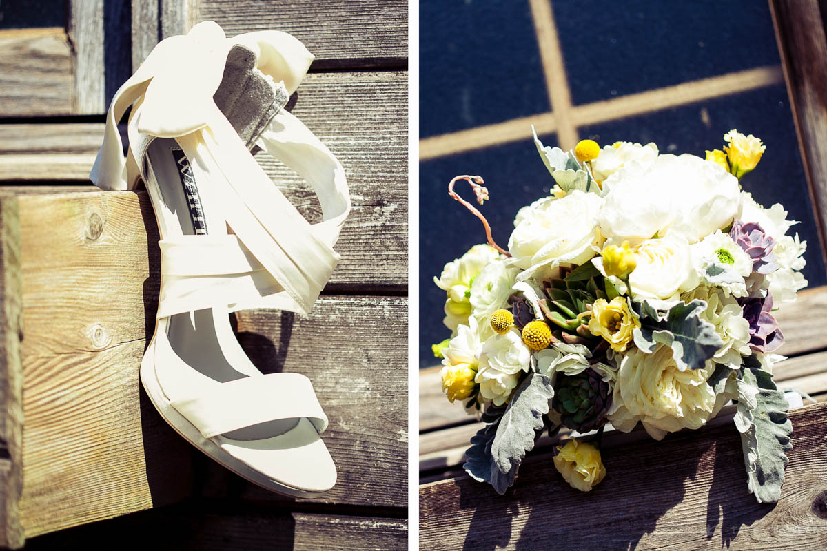 The Vera Wang shoes and the bride