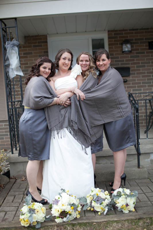 Jen and her bridesmaids.