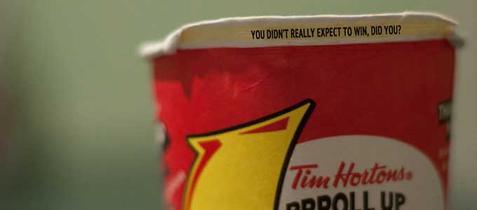Tim Horton's Roll Up The Rim Alternatives, 52 Week Project